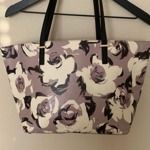 Kate Spade floral leather tote 🌺